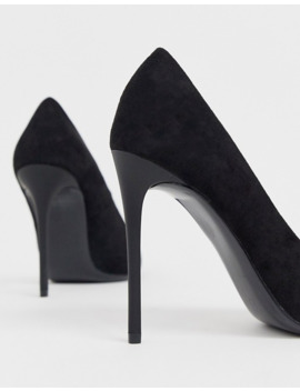 Truffle Collection Pointed Heeled Stiletto In Black by Asos