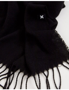 Collusion Unisex Scarf In Black by Collusion