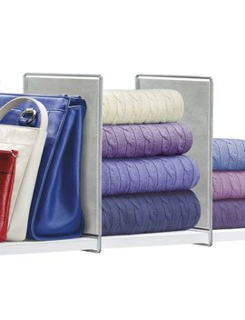Lynk® Vela™ Shelf Dividers   Closet Shelf Organizer (Set Of 2)   Platinum by Lynk