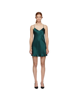 Green Silk Dream Slip Dress by Simone PÉrÈle