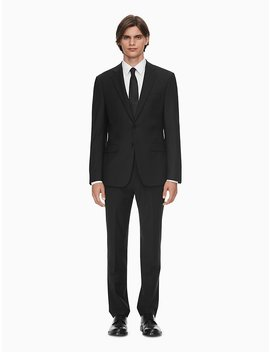 Skinny Fit Black Suit Jacket + Suit Pants Skinny Fit Black Suit Jacket Skinny Fit Black Suit Pants by Calvin Klein