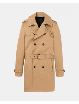 Trench Croisé En Twill De Coton by The Kooples