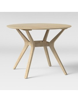 """42"""" Emmond Mid Century Dining Table Round Natural   Project 62™ by Shop This Collection"""