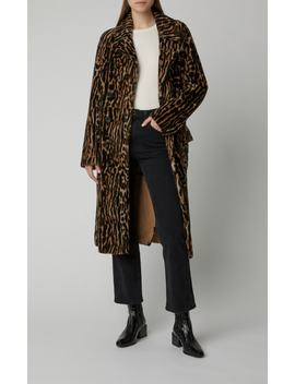 Leopard Print Shearling Coat by Yves Salomon Paris