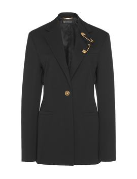 Embellished Wool Blend Blazer by Versace