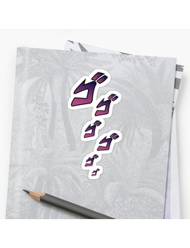 Jojo Menacing ゴゴゴ ( Jojo's Bizarre Adventure ) Sticker by Toradesigns