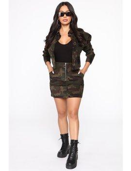Pack Leader Skirt Set   Camouflage by Fashion Nova
