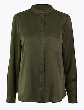 Satin Shirt by Standard Tracked: