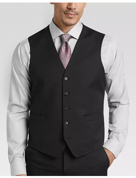 Joe Joseph Abboud Black Modern Fit Suit Separates Vest by Joe Joseph Abboud