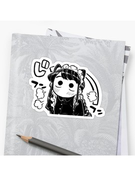 Komi San Cat Ears Sticker by Bayabasss