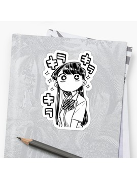 Komi San Amazed Sticker Sticker by Sluggishmoon