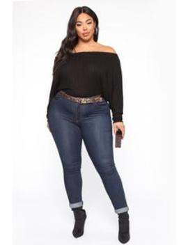 Just Your Type One Shoulder Top   Black by Fashion Nova