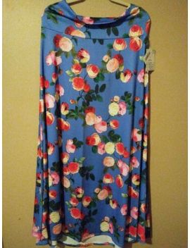 Lularoe Xl Blue Floral Maxi Skirt. New With Tags. by Lu La Roe