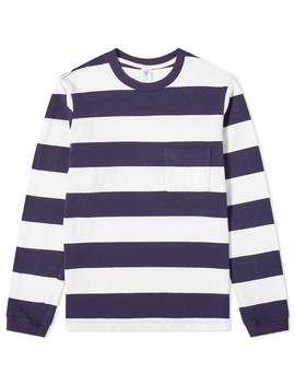 Velva Sheen Long Sleeve Wide Stripe Tee by Velva Sheen