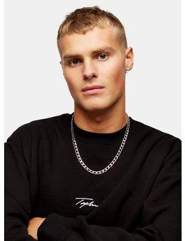Signature Black Printed Sweatshirt by Topman