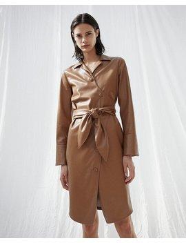 Nanushka Ailsa Shirt Dress   Brown by Garmentory