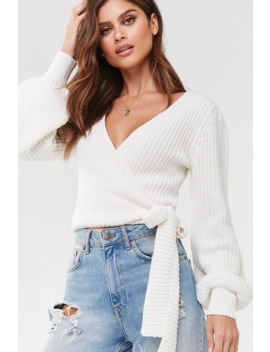 Surplice Wrap Sweater by Forever 21