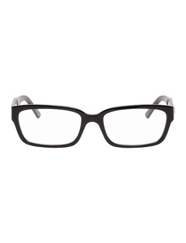 Black Rectangle Glasses by Balenciaga