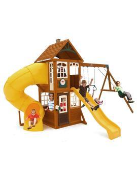 Lewiston Retreat Wooden Swing Set by Kid Kraft