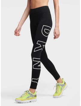 High Waisted Full Length Logo Legging by Donna Karan