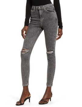 Ripped Acid Wash Ankle Skinny Jeans by Topshop