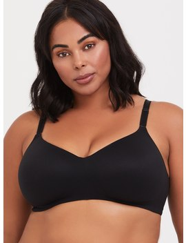 Black 360° Back Smoothing™ Everyday Lightly Lined Wire Free Bra by Torrid