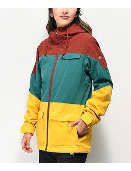 Aperture Snowbirdie Colorblock 10 K Snowboard Jacket by Aperture