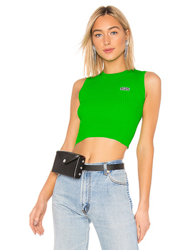 Fluorescent Logo Top In Green by Gcds
