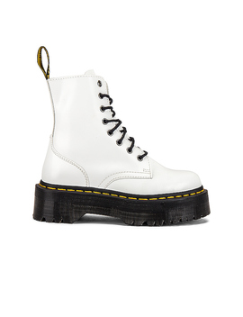 Jadon Polished Smooth Boot In White by Dr. Martens