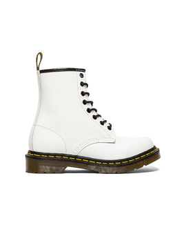 1460 8 Eye Boot In White by Dr. Martens