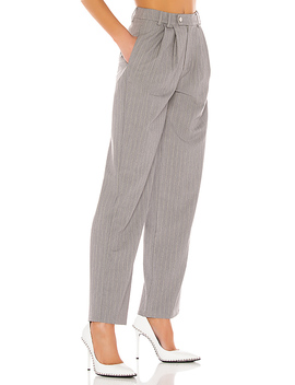 Classic Trouser Pant In Grey by Danielle Guizio