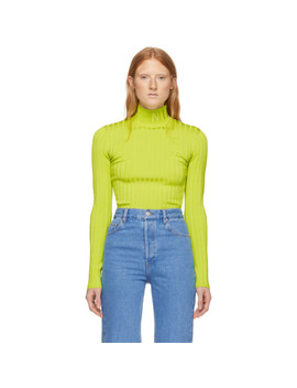Green Knit Turtleneck by Nina Ricci