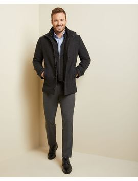 Two Tone Wool Blend Car Coat by Rw & Co