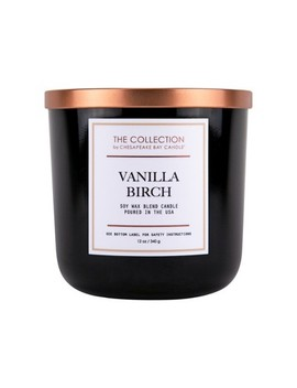 12oz Lidded Black Jar Candle Vanilla Birch   The Collection By Chesapeake Bay Candle by The Collection By Chesapeake Bay