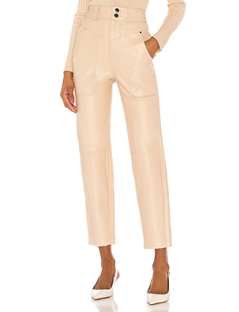 Seana Leather Pant In Khaki by Song Of Style