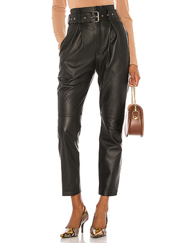 Suzie Leather Pants In Black by Song Of Style