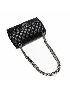 Crossbody Quilted Purse Shoulder Bag For Women With Metal Chain Strap, Black by Crossbody