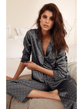 Spot Print Silk Pajamas by The White Company
