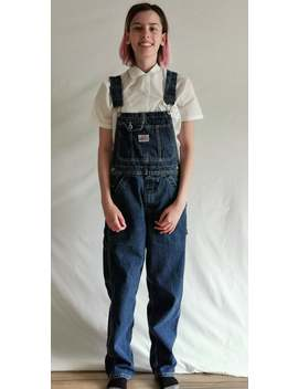 Vintage 80's, 90's Ikeda Denim Jean Overalls,  Unisex Men's Xs, Womens Small, by Etsy