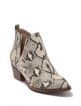 Cortes Snake Embossed Bootie by Cl By Laundry
