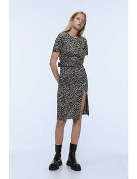Textured Weave Dress With Belt by Zara