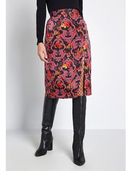 Got My Attention Satin A Line Skirt by Modcloth