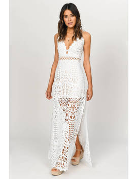 Wild Child White Lace Maxi Dress by Tobi