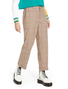 Plaid Straight Leg Crop Work Pants by Dickies
