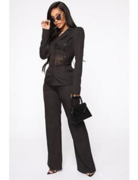 Real Boss In The Flesh Suit Set   Black by Fashion Nova