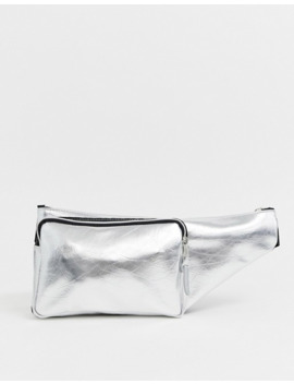 Asos Design Cross Body Bag In Silver Metallic by Asos Design