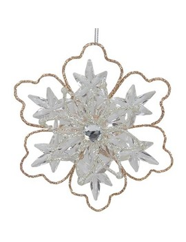 "Northlight 5.25"" Glitter Winter Snowflake Christmas Ornament   Gold by Northlight"