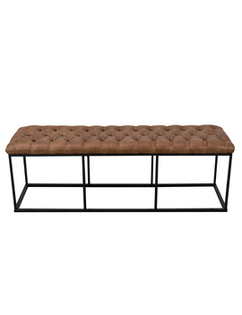 Home Pop Downing Large Decorative Bench, Multiple Colors by Home Pop