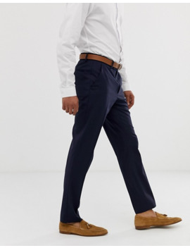 Asos Design – Elegante, Schmale Hose In Marineblau by Asos