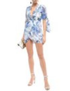 Only Everything Wrap Effect Floral Print Cotton And Silk Blend Gauze Mini Dress by Alice Mc Call